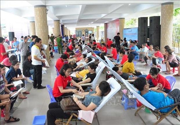 Donan mas de mil 500 unidades de sangre durante campana voluntaria en Vietnam hinh anh 1