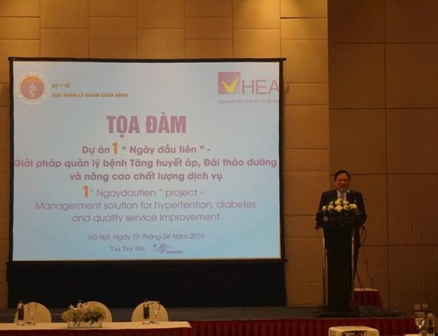 Asiste grupo farmaceutico frances a Vietnam en mejora del control de hipertension y diabetes hinh anh 1