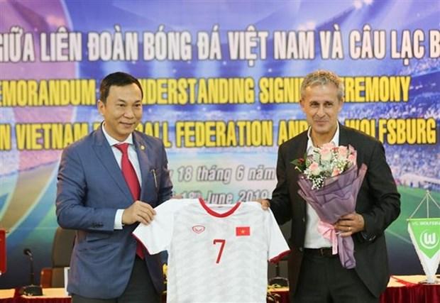 Cooperan Vietnam y Alemania en el desarrollo del futbol hinh anh 1