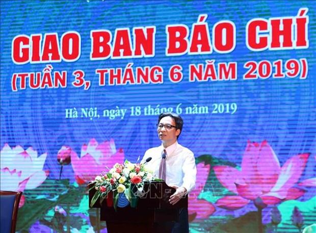 Felicita viceprimer ministro de Vietnam a periodistas en el Dia de la Prensa Revolucionaria hinh anh 1
