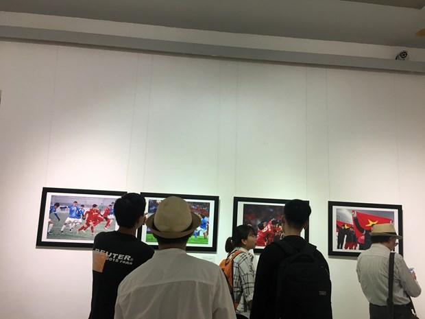 Presentan exposicion de fotoperiodismo en ocasion del Dia de la Prensa Revolucionaria de Vietnam hinh anh 1