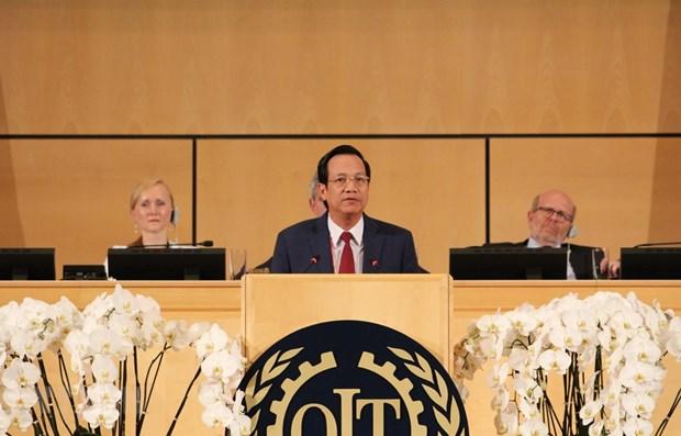 Vietnam se compromete a cumplir con las obligaciones de membresia de la OIT hinh anh 1