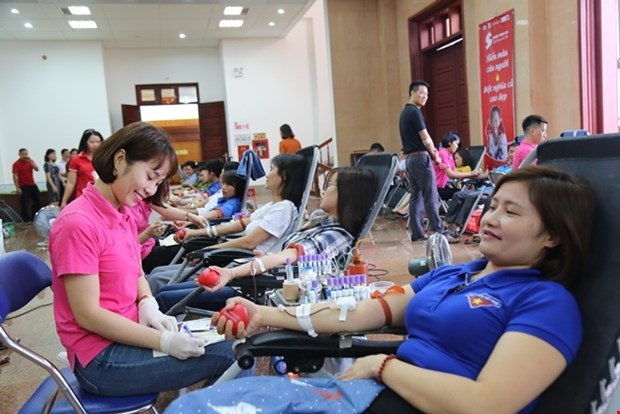 Celebra provincia vietnamita de Lai Chau programa de donacion de sangre hinh anh 1