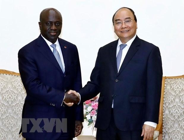 Respalda premier vietnamita el fortalecimiento de nexos con Costa de Marfil hinh anh 1