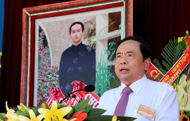Felicita presidente del Frente de Patria a secta budista de Hoa Hao en el 80 aniversario de su fundacion hinh anh 1