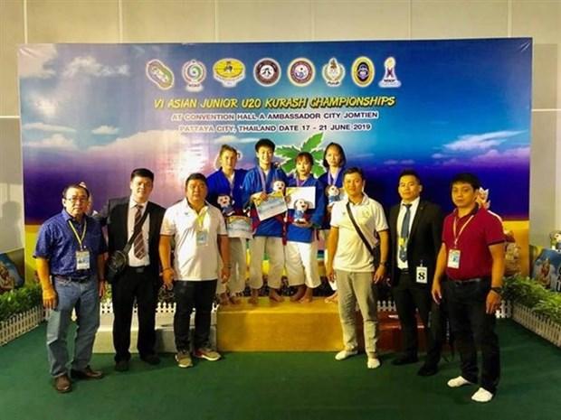 Obtiene Vietnam dos medallas de oro en Campeonato Juvenil Asiatico de Kurash hinh anh 1