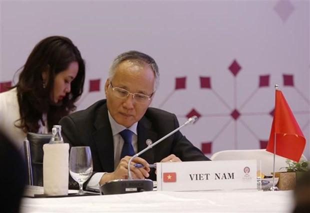 Ministros de Economia de ASEAN esperan concluir las negociaciones de RCEP a fines de este ano hinh anh 1
