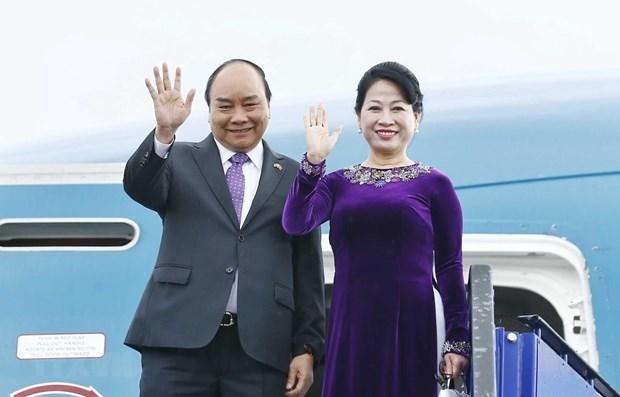 Premier vietnamita llega a Bangkok para participar en la 34 Cumbre de la ASEAN hinh anh 1