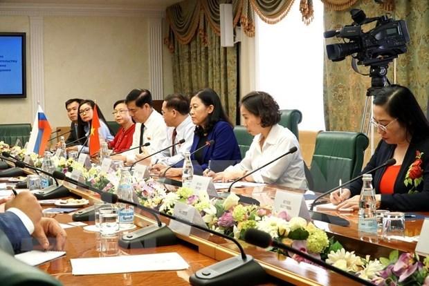 Impulsan Vietnam y Rusia cooperacion parlamentaria hinh anh 1