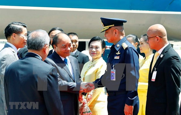 Premier de Vietnam inicia actividades en 34 Cumbre de ASEAN hinh anh 1
