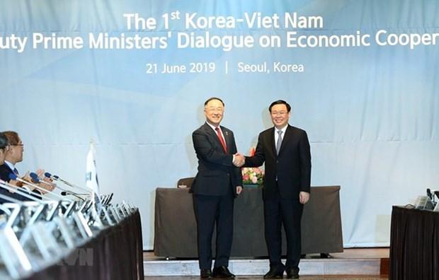 Efectuan Vietnam y Corea del Sur primer Dialogo Economico a nivel de viceprimer ministro hinh anh 1