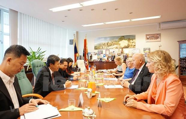Promueven cooperacion entre las localidades vietnamitas y checas hinh anh 1