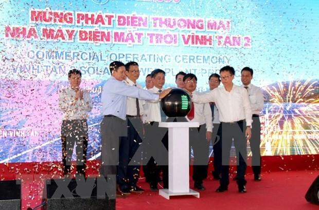 Inauguran una nueva planta fotovoltaica en provincia surena de Vietnam hinh anh 1