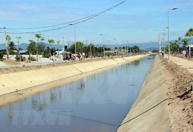 Inauguran en Vietnam las obras de expansion y solidificacion del canal del puente Ngoi hinh anh 1