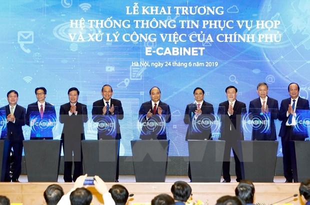 Entra en servicio en Hanoi sistema informativo para actividades del Gobierno de Vietnam hinh anh 1