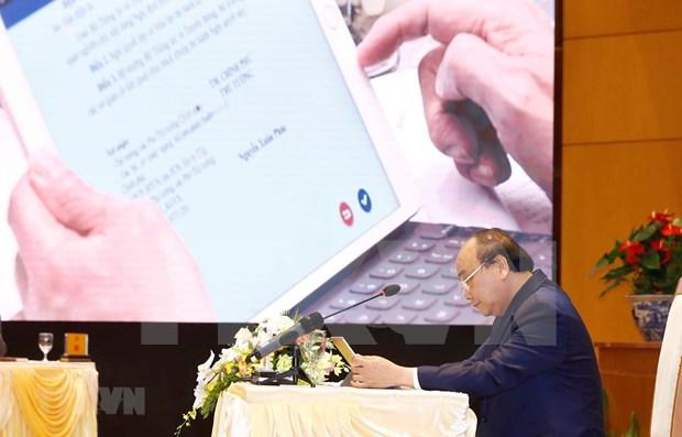Entra en servicio en Hanoi sistema informativo para actividades del Gobierno de Vietnam hinh anh 2