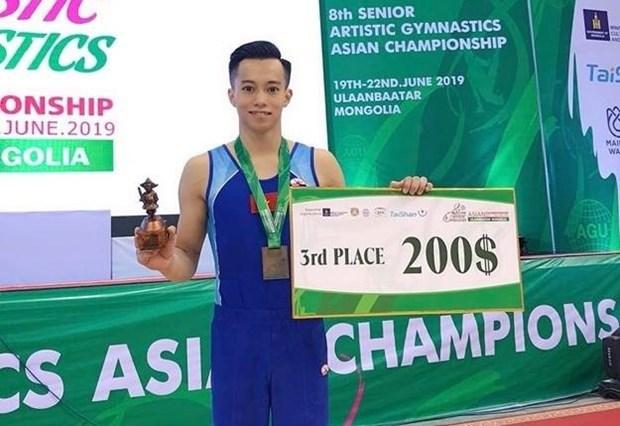 Ganan gimnastas vietnamitas dos medallas de bronce en torneo asiatico hinh anh 1