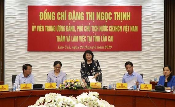 Insta vicepresidenta de Vietnam a provincia de Lao Cai a centrarse en la reduccion de la pobreza hinh anh 1