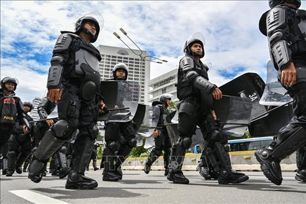 Movilizan en Indonesia 47 mil policias ante el anuncio del resultado de apelacion electoral hinh anh 1