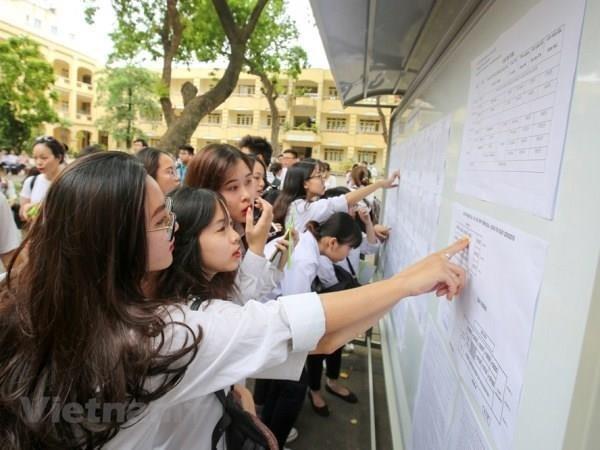 Comienza en Vietnam el examen final de bachillerato 2019 hinh anh 1
