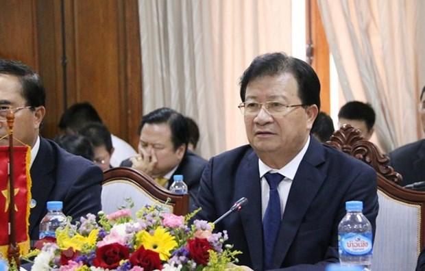 Destacan dirigentes laosianos el desarrollo fructifero de los nexos con Vietnam hinh anh 1
