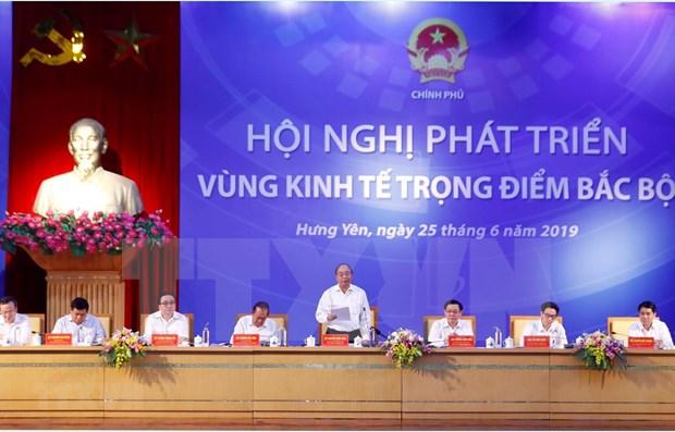 Pide primer ministro vietnamita mayores esfuerzos para desarrollar zona economica clave del Norte hinh anh 1