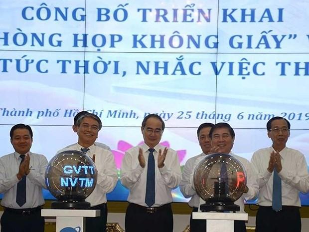 """Aboga Gobierno de Ciudad Ho Chi Minh por """"reuniones sin papeles"""" hinh anh 1"""