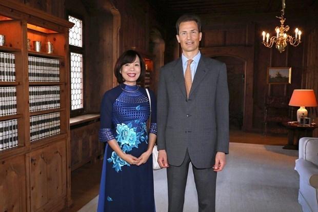 Aprecia principe heredero de Liechtenstein papel de Vietnam en la arena internacional hinh anh 1
