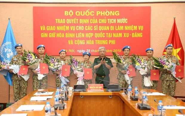 Enviara Vietnam otros siete combatientes a misiones de paz en Africa hinh anh 1