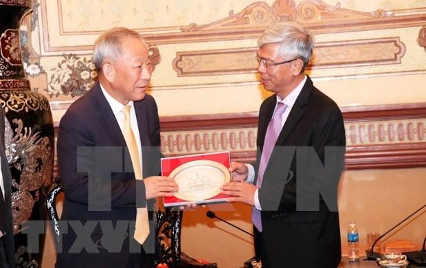 Apoya Ciudad Ho Chi Minh participacion de grupo chino en construccion de infraestructuras hinh anh 1