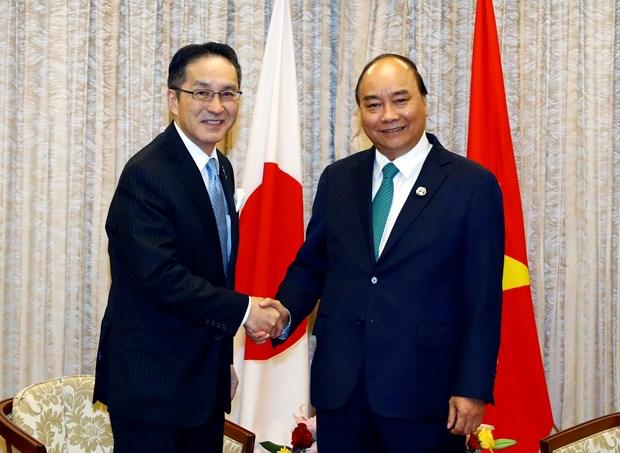 Primer ministro de Vietnam recibe a ejecutivos de grandes empresas japonesas hinh anh 1