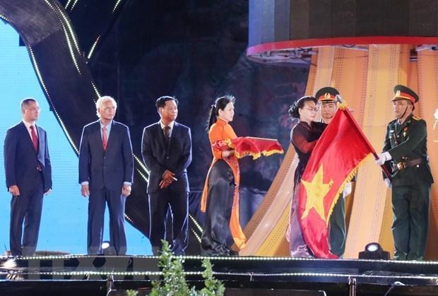 Presidenta parlamentaria de Vietnam participa en aniversario del restablecimiento de Phu Yen hinh anh 1