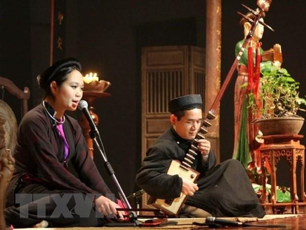 Vigorizan valores culturales de canto ceremonial de Vietnam hinh anh 1
