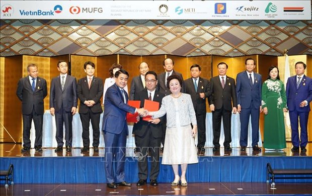 Proyectan empresas japonesas invertir casi cuatro mil millones de dolares en Hanoi hinh anh 1