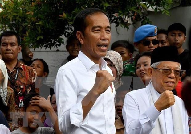 Auncian oficialmente en Indonesia reeleccion de Joko Widodo como presidente hinh anh 1