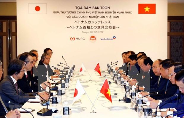 Dialoga primer ministro vietnamita con lideres de empresas japonesas hinh anh 1