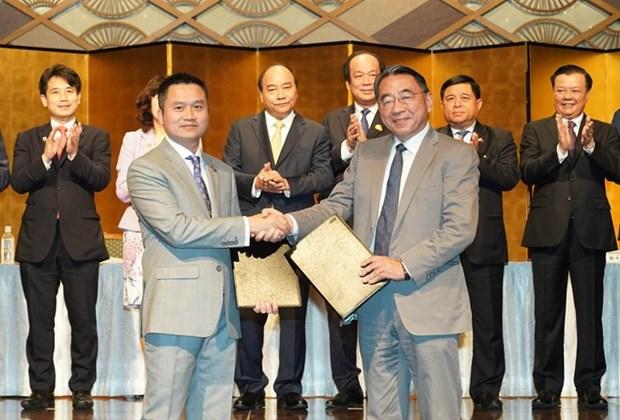 Exhorta primer ministro vietnamita a ampliar inversiones japonesas en su pais hinh anh 1