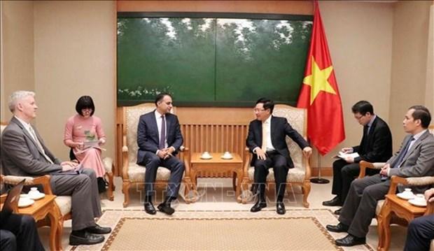 Vietnam atesora relaciones con ADB, vicepremier y canciller Pham Binh Minh hinh anh 1