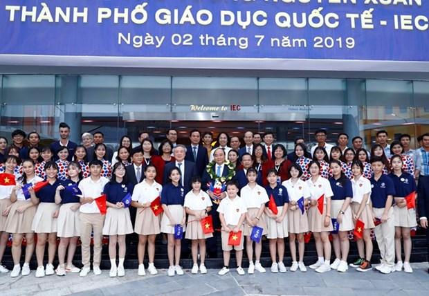 Primer Ministro visita la Ciudad de Educacion Internacional de Quang Ngai hinh anh 1