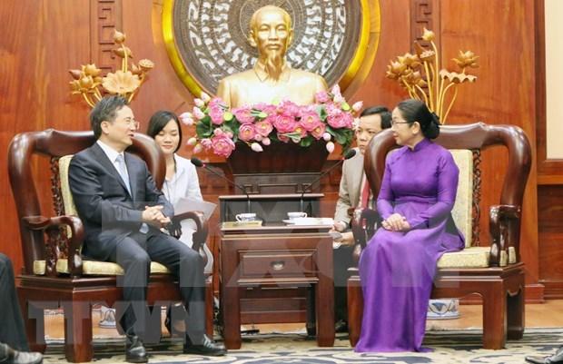 Promueve Ciudad Ho Chi Minh nexos con localidad china hinh anh 1
