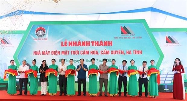 Inauguran primera planta de energia solar en la provincia centrovietnamita de Ha Tinh hinh anh 1
