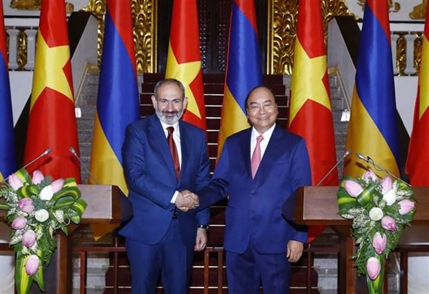 Proyectan Vietnam y Armenia impulsar nexos comerciales hinh anh 1