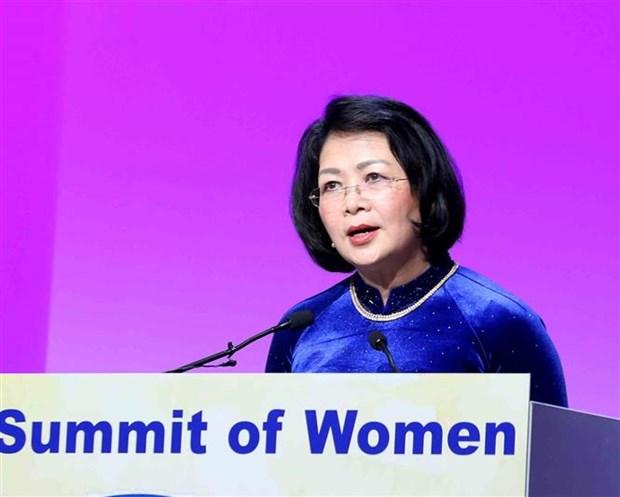 Destaca vicepresidenta vietnamita papel de las mujeres en la cuarta revolucion industrial hinh anh 1