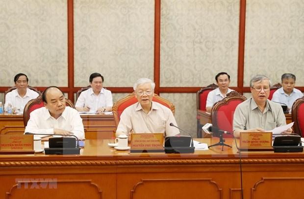 Preside maximo dirigente politico de Vietnam reunion del Buro Politico hinh anh 1
