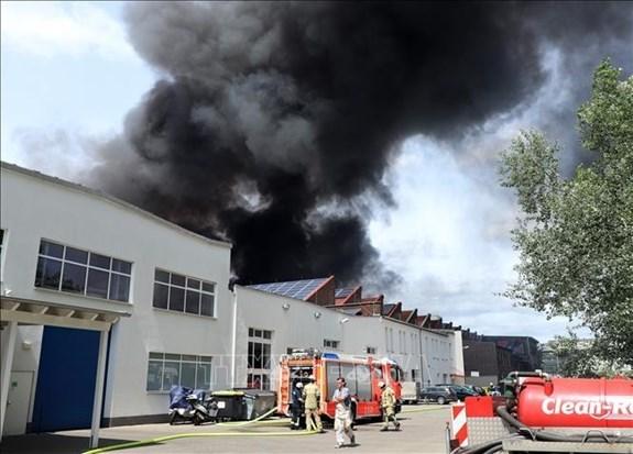 Destruye incendio almacenes de mercado vietnamita en Alemania hinh anh 1