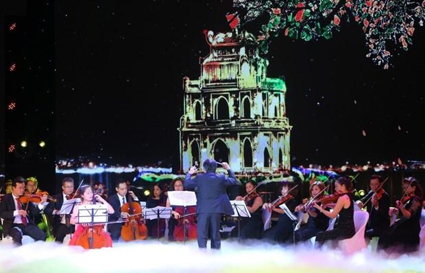 Celebran en Vietnam con espectaculo musical aniversario de Hanoi como Ciudad por la Paz hinh anh 1