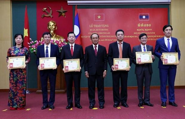 Reconoce Laos asistencia de provincia vietnamita de Thai Nguyen hinh anh 1