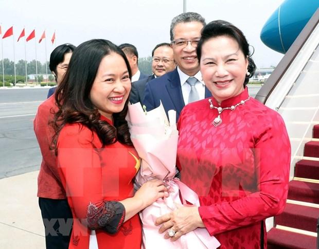 Llega presidenta del Parlamento vietnamita a Beijing hinh anh 1