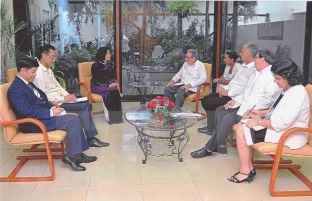 Reciben maximos dirigentes de Cuba a vicepresidenta vietnamita hinh anh 1