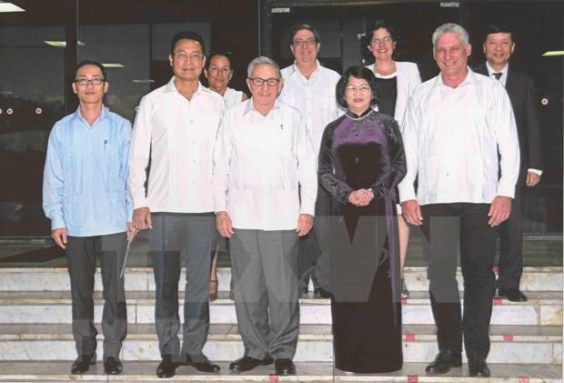 Reciben maximos dirigentes de Cuba a vicepresidenta vietnamita hinh anh 2
